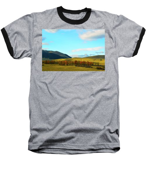 Montana Fall Trees Baseball T-Shirt