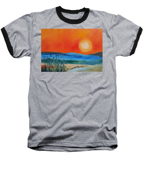 Montana Firery Sunset             49 Baseball T-Shirt