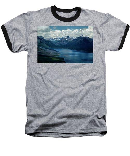 Montana Mountain Vista And Lake Baseball T-Shirt