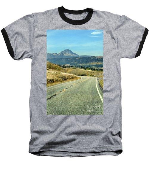 Baseball T-Shirt featuring the photograph Montana Road by Jill Battaglia