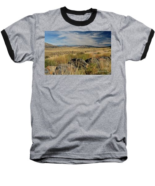 Montana Route 200 Baseball T-Shirt by Cindy Murphy - NightVisions