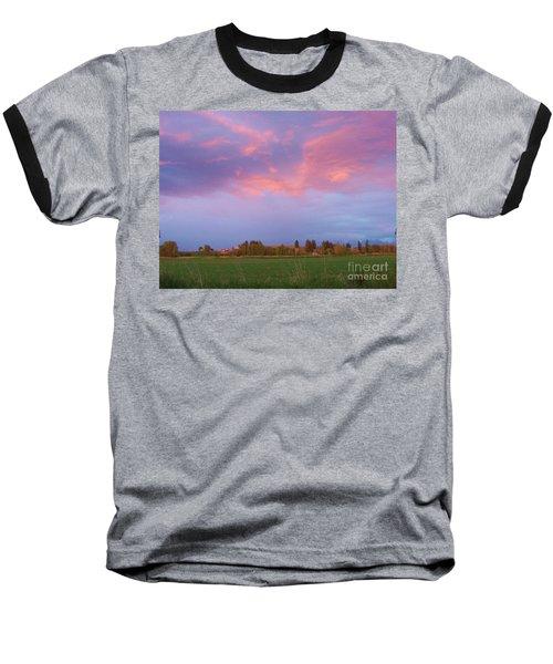Montana Sunset 2 Baseball T-Shirt