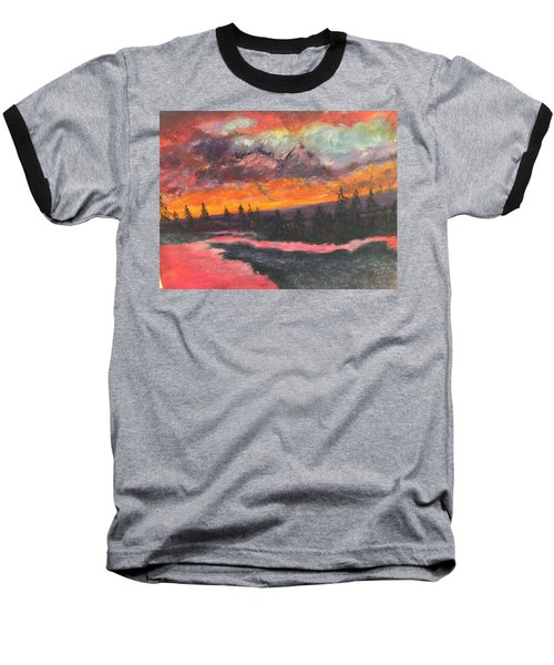 Montana Sunset Baseball T-Shirt