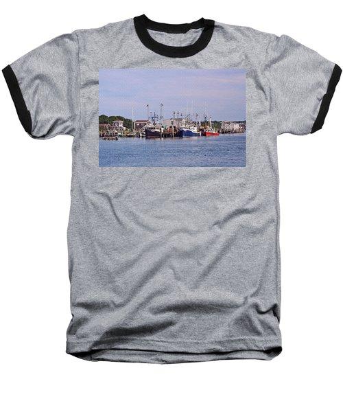 Montauk Fishing Boats Baseball T-Shirt