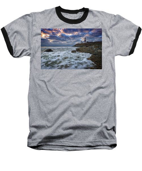 Montauk Morning Baseball T-Shirt by Rick Berk