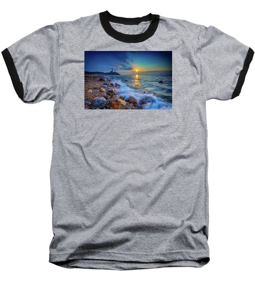 Montauk Sunrise Baseball T-Shirt by Rick Berk