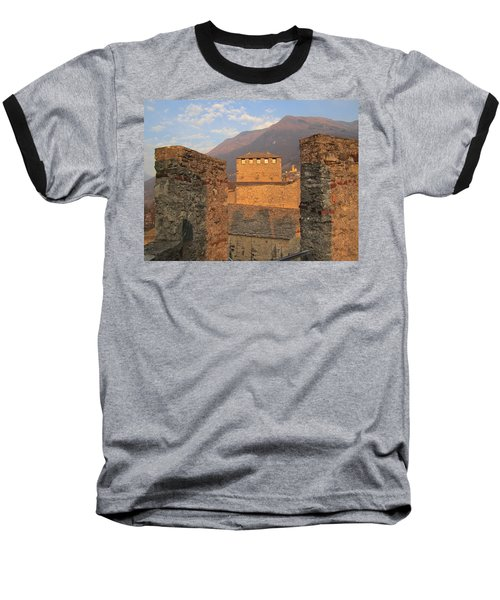 Montebello - Bellinzona, Switzerland Baseball T-Shirt by Travel Pics