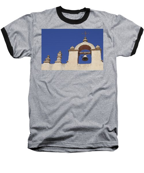 Baseball T-Shirt featuring the photograph Montecito Mt. Carmel Church Tower by Art Block Collections