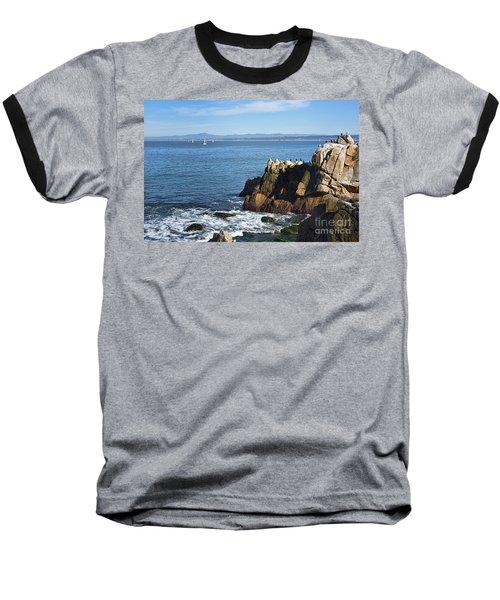 Baseball T-Shirt featuring the photograph Monterey Bay by Gina Savage