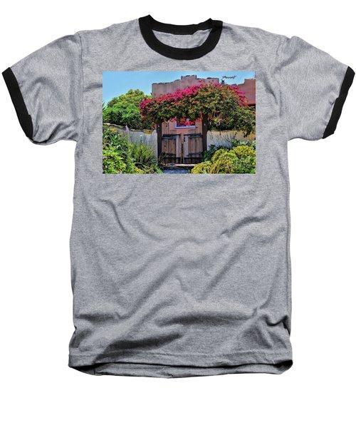 Monterey Charm Baseball T-Shirt by Gina Savage
