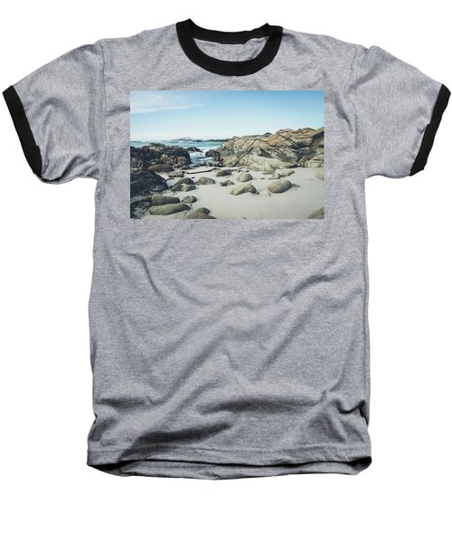 Baseball T-Shirt featuring the photograph Monterey Coastline by Margaret Pitcher