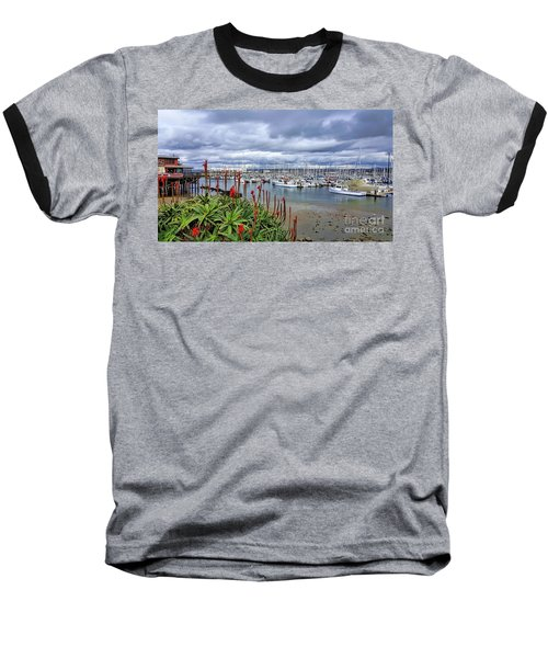 Monterey Marina Baseball T-Shirt by Gina Savage