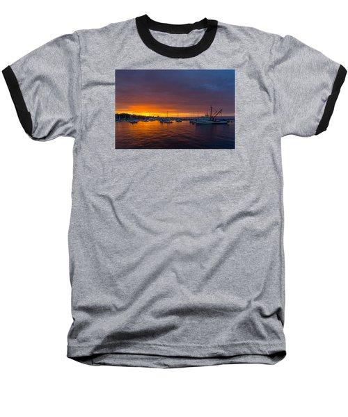 Monterey Marina Sunset Baseball T-Shirt