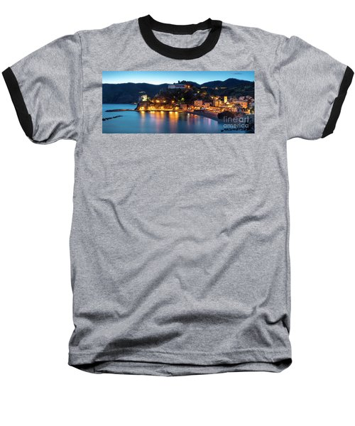 Baseball T-Shirt featuring the photograph Monterosso Al Mare At Twilight by Brian Jannsen