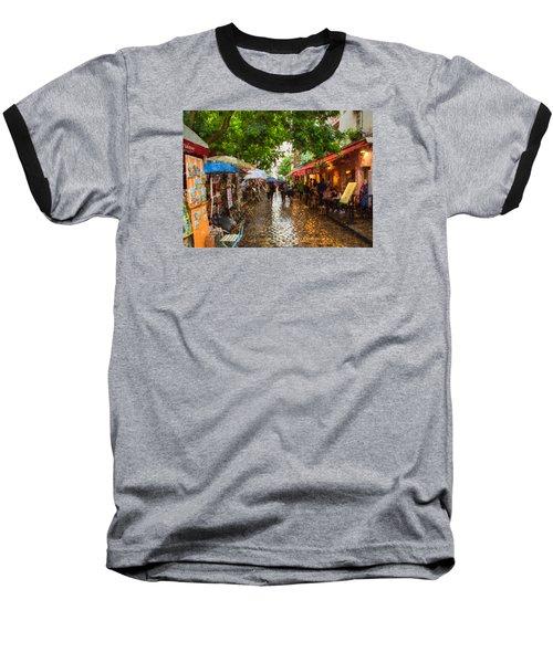 Montmartre Art Market, Paris Baseball T-Shirt