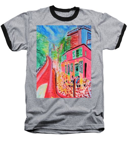 Montmartre Cafe In Paris Baseball T-Shirt