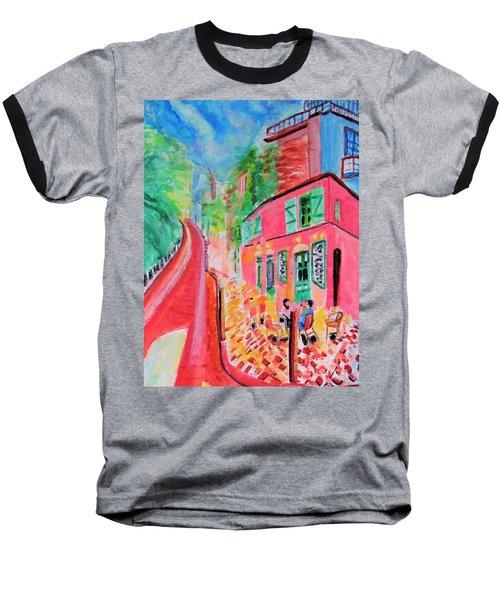Montmartre Cafe In Paris Baseball T-Shirt