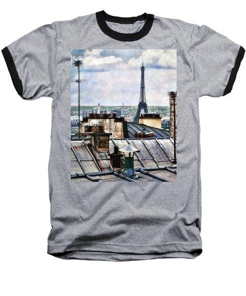 Montmartre Rooftop Baseball T-Shirt