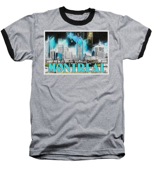 Montreal Lights Baseball T-Shirt by Kai Saarto