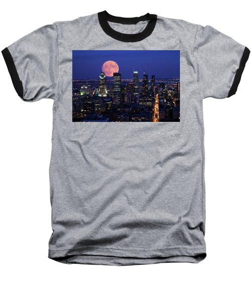 Baseball T-Shirt featuring the photograph Montreal Supermoon by Mircea Costina Photography