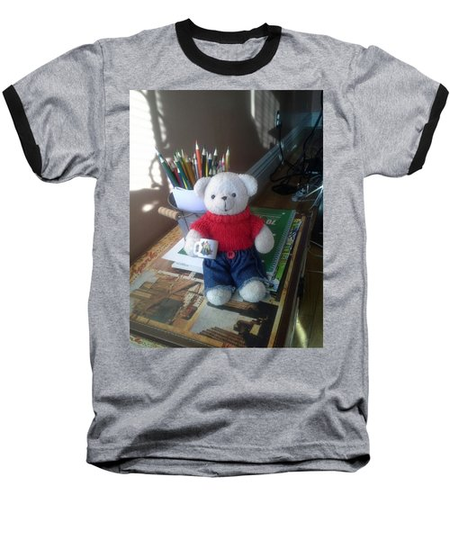 Monty At Writing Desk Baseball T-Shirt