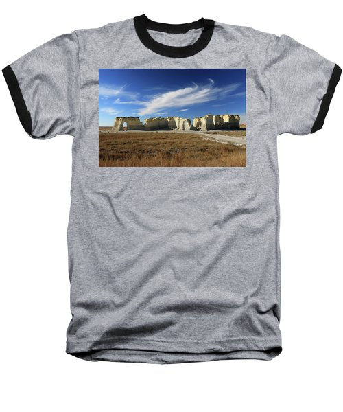 Monument Rock Afternoon  Baseball T-Shirt by Christopher McKenzie
