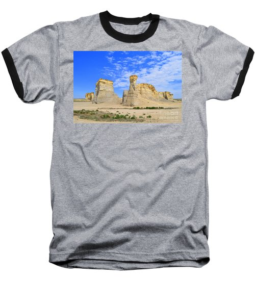 Monument Rocks In Kansas 2 Baseball T-Shirt