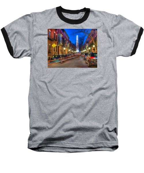 Monument Street Charlestown 023 Baseball T-Shirt