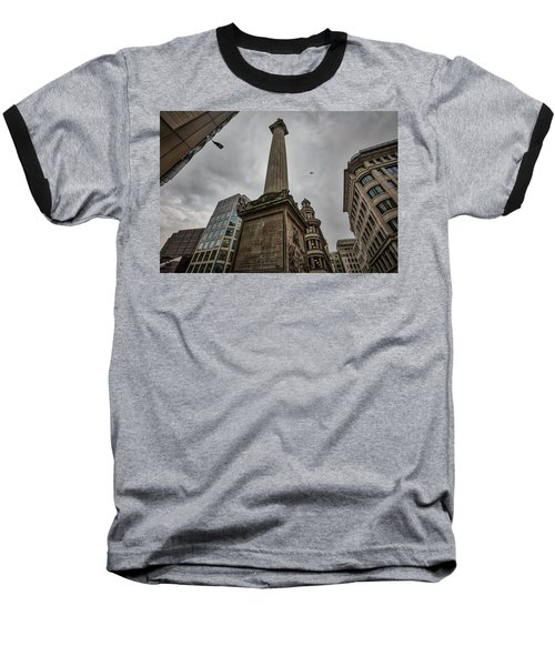 Monument To The Great Fire Of London Baseball T-Shirt