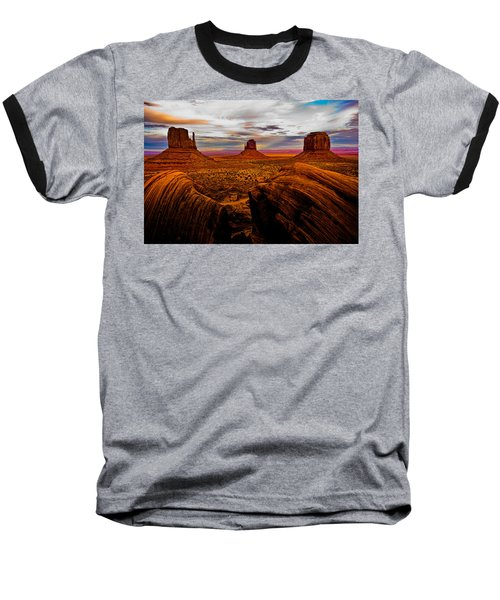 Baseball T-Shirt featuring the photograph Monument Valley by Harry Spitz