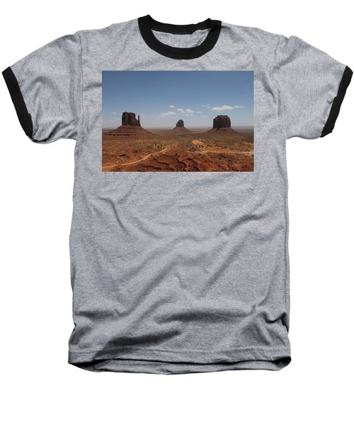 Monument Valley Navajo Park Baseball T-Shirt by Christopher Kirby