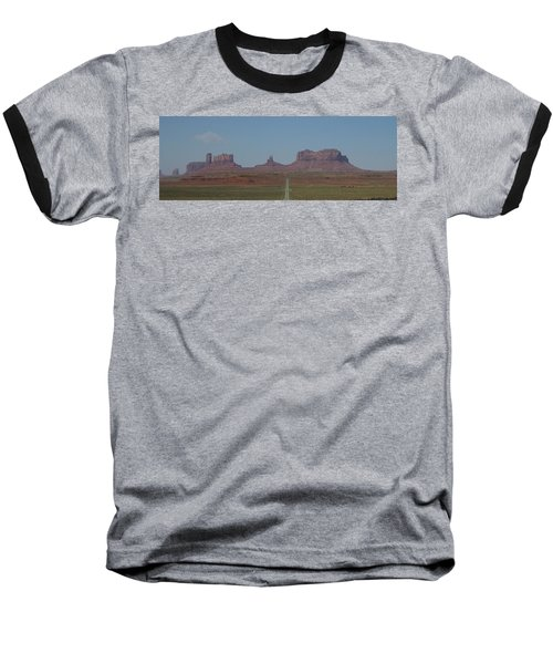 Monument Valley Navajo Tribal Park Baseball T-Shirt by Christopher Kirby