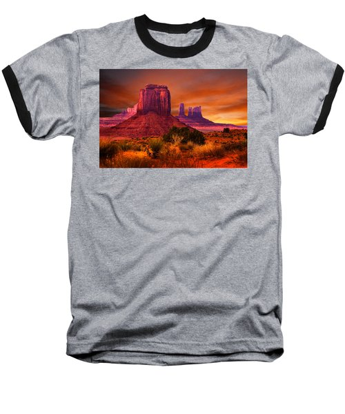 Monument Valley Sunset Baseball T-Shirt