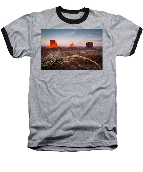 Baseball T-Shirt featuring the photograph Monument Valley Sunset by Wesley Aston