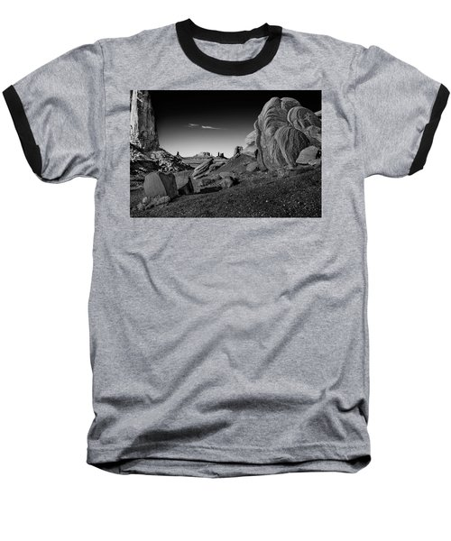 Monument Valley Rock Formations Baseball T-Shirt