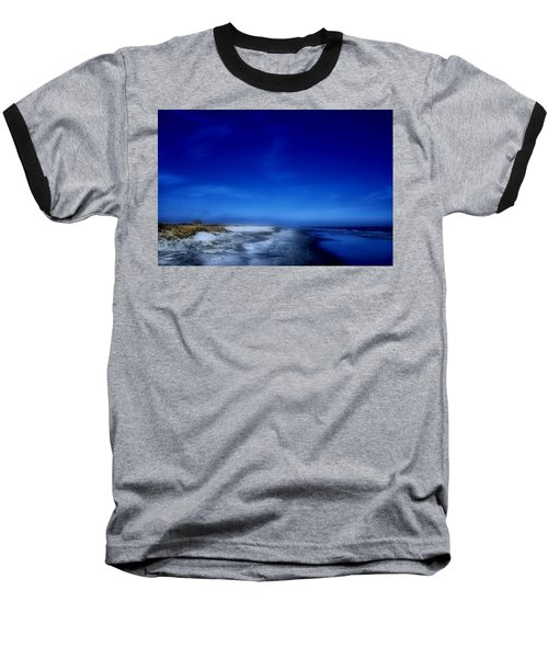 Mood Of A Beach Evening - Jersey Shore Baseball T-Shirt