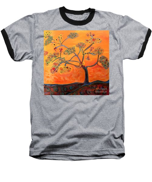 Orange Flamboyan Baseball T-Shirt