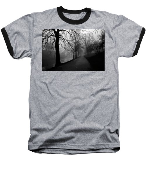 Moody And Misty Morning Baseball T-Shirt by Inge Riis McDonald
