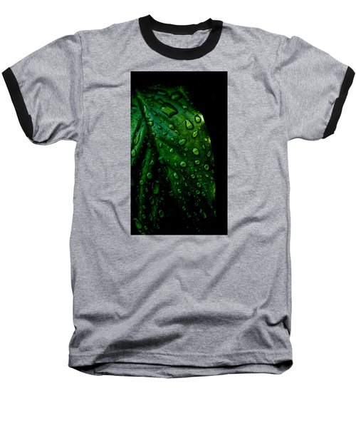 Moody Raindrops Baseball T-Shirt by Parker Cunningham