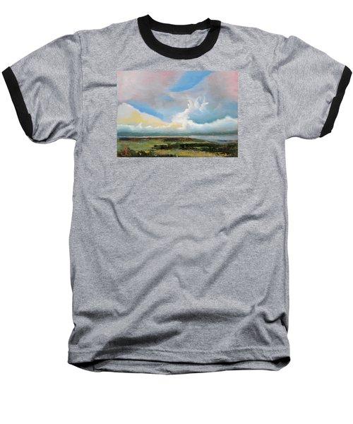 Moody Skies Baseball T-Shirt by Trina Teele