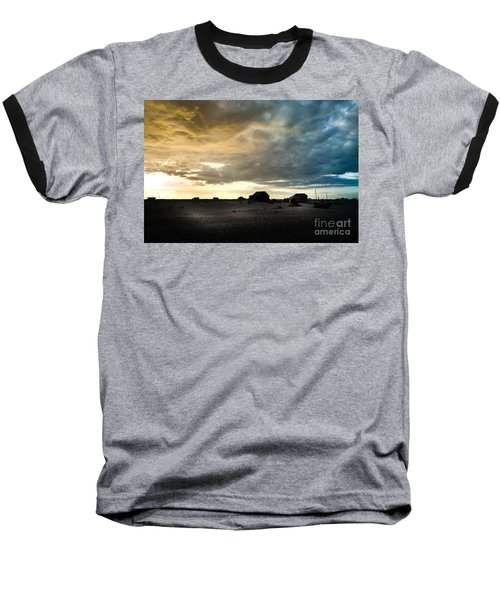 Baseball T-Shirt featuring the photograph Moody Sky, Dungeness Beach  by Perry Rodriguez