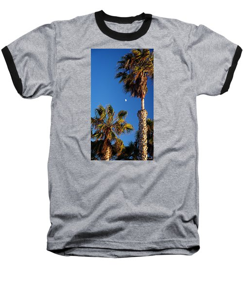 Moon And Palms Baseball T-Shirt