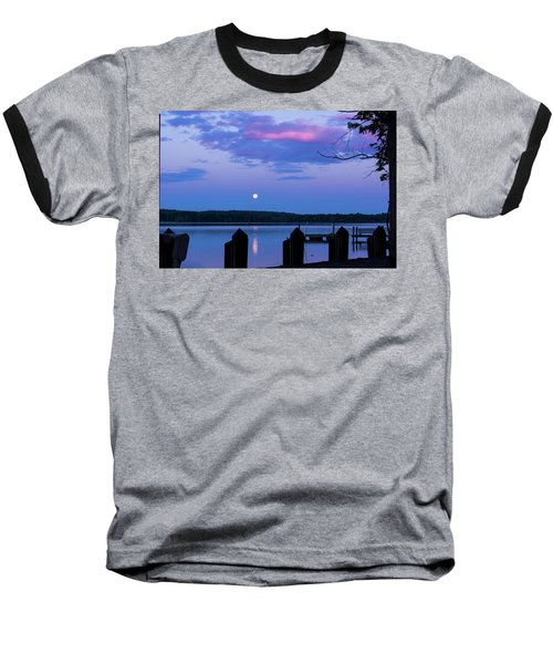 Moon And Pier Baseball T-Shirt