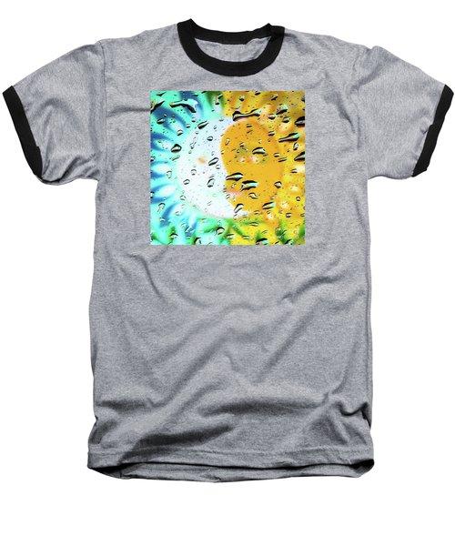 Moon And Sun Rainy Day Windowpane Baseball T-Shirt