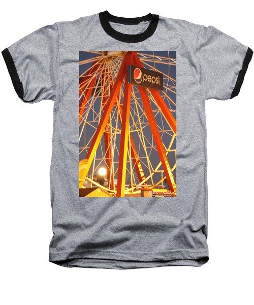 Moon And The Ferris Wheel Baseball T-Shirt