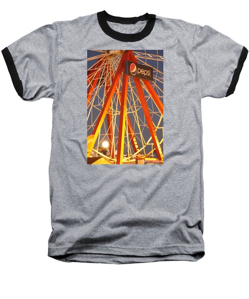 Moon And The Ferris Wheel Baseball T-Shirt