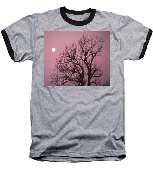 Moon And Tree Baseball T-Shirt by Sumoflam Photography