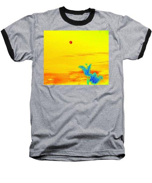 Moon And Two Palms Baseball T-Shirt