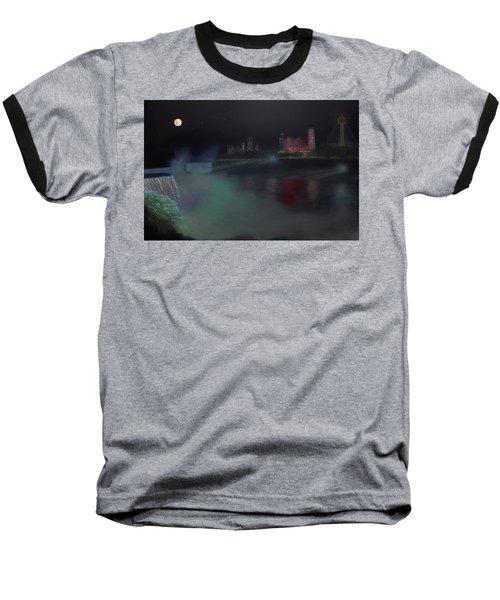 Moon At Niagara  Baseball T-Shirt