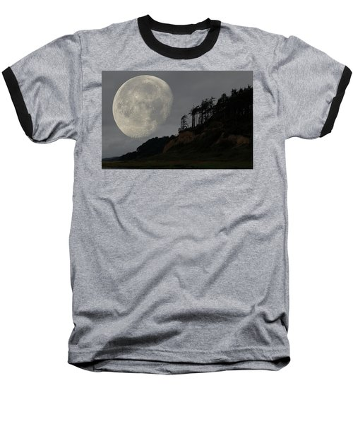 Moon At Roosevelt Beach Wa Baseball T-Shirt